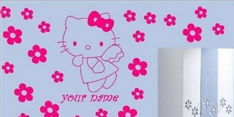 D nde comprar vinilos decorativos para paredes for Vinilo hello kitty