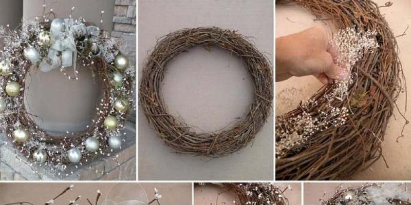 Coronas de navidad caseras para decorar las puertas for Coronas navidenas para puertas 2016