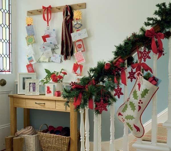 decoracin navidea para el recibidor de casa
