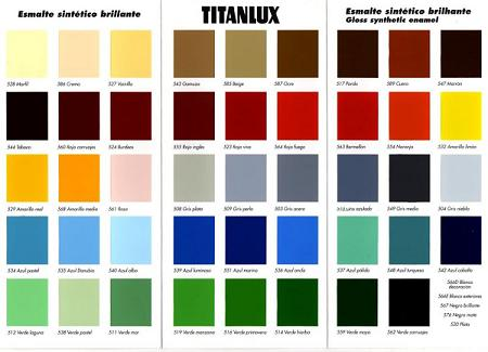 Carta de colores titanlux decoraci n for Gama colores pintura pared