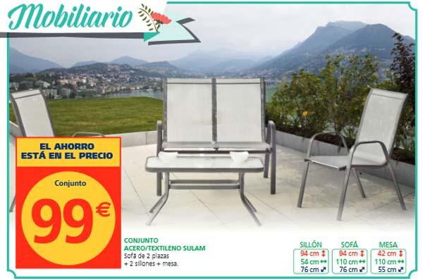 Alcampo muebles jard n cat logo 2015 for Mesas y sillas de jardin baratas