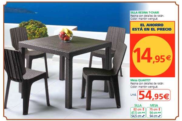 Muebles plastico carrefour 20170814014514 for Muebles resina carrefour