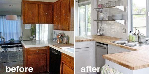 cocina reformada antes y despues