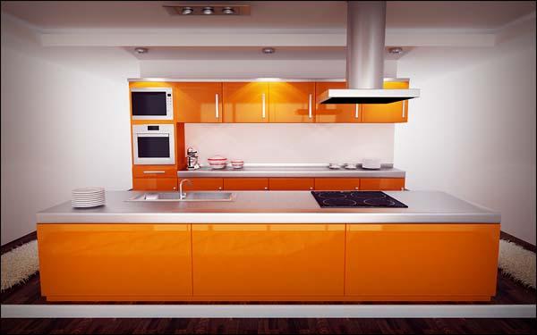 5 colores diferentes para pintar cocinas decoraci n - Cocinas color naranja ...