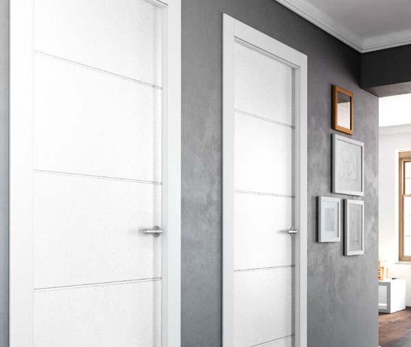 Decoraci n 3 propuestas para combinar puertas y suelos - Decoracion puertas blancas ...