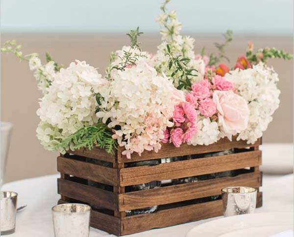 cajas de madera como mueble auxiliar decoraci n