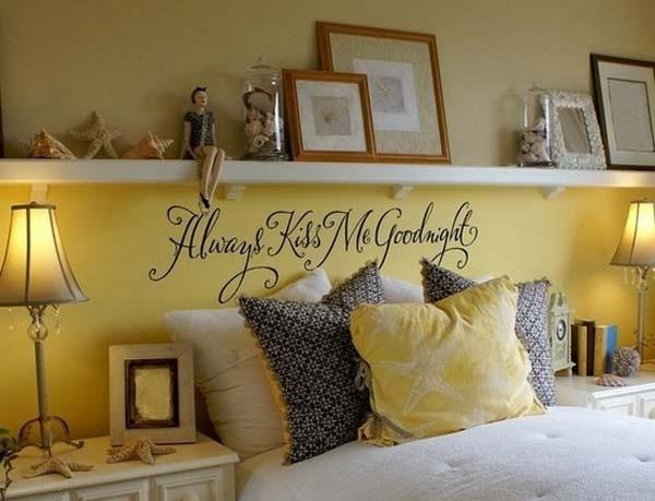 Decoraci n decorar con estantes sobre la cama - Lo ultimo en decoracion de paredes ...