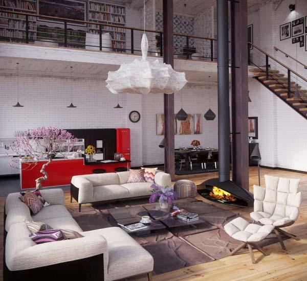 Impresionante loft con estilo industrial decoraci n for Decoracion estilo loft