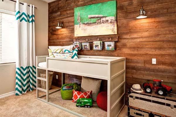 habitacion-infantil-blanco-y-madera