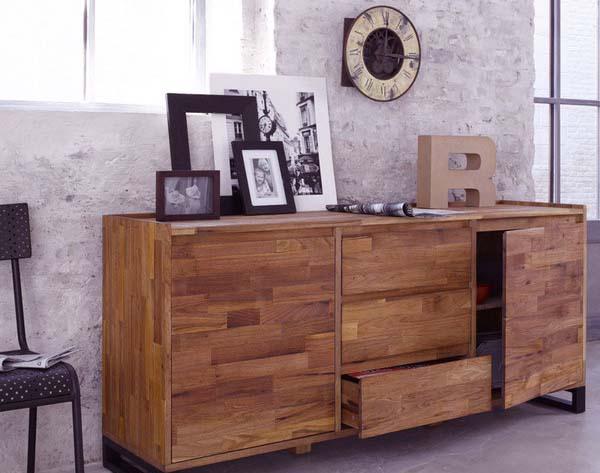 Decoraci n materiales de tendencia en la decoraci n - Muebles madera natural ...