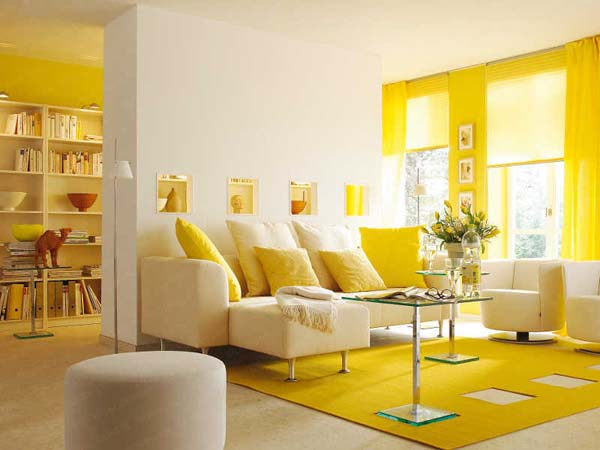 salon-pintado-de-color-amarillo