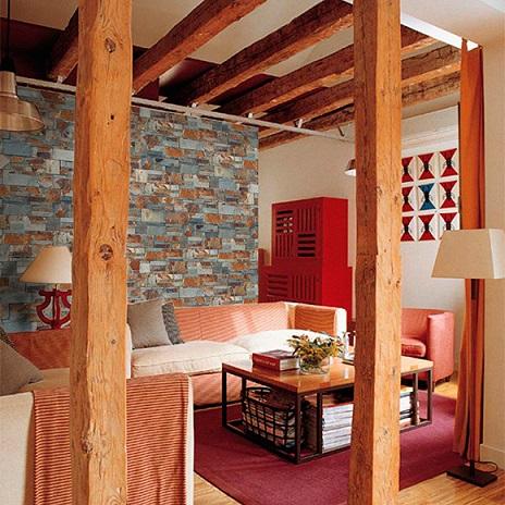 Paneles de imitaci n de piedra para pared de leroy merl n decoraci n - Pared interior de piedra ...