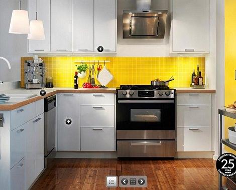 cocina pequeña amarilla