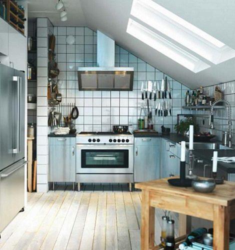 fotos cocinas pequeñas ikea industrial