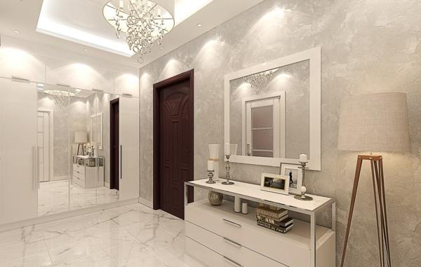entrada blanca piso grande