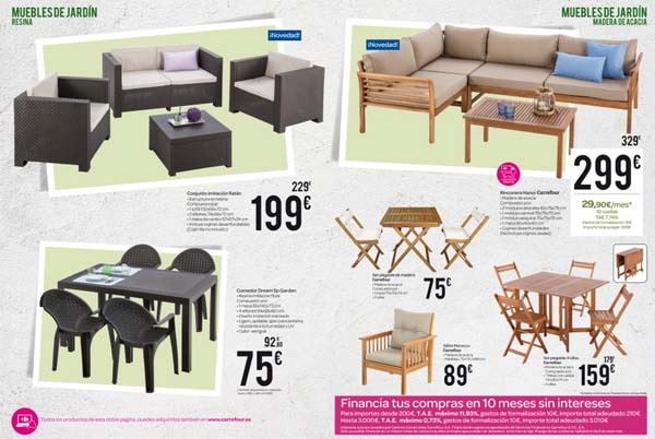 Carrefour Muebles Catálogo Jardín 2015 Decoración