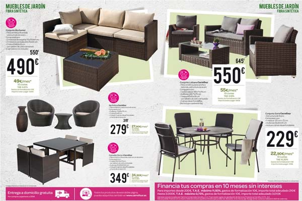 Carrefour Muebles Catalogo Jardin 2015 Decoracion