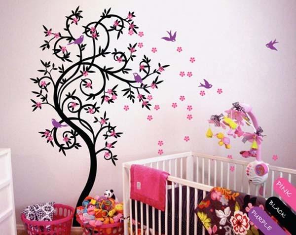 habitacion-infantil-decorada-con-vinilos
