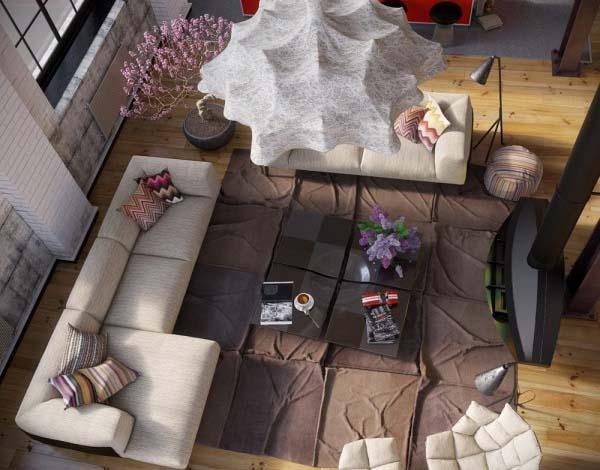 loft-con-decoracion-industrial