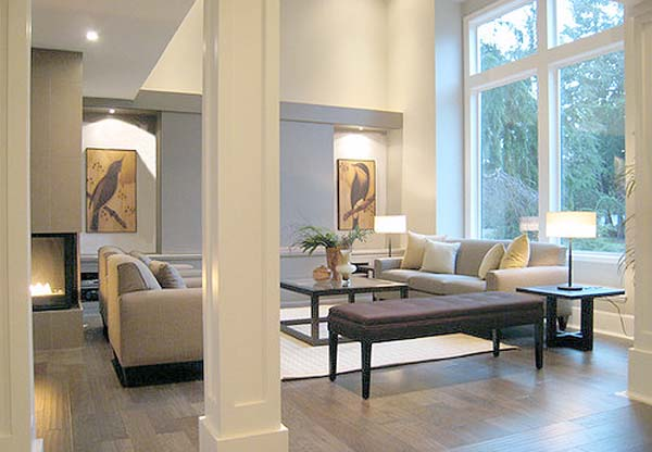 Ideas para decorar las columnas de tu hogar decoraci n - Decoracion columnas salon ...
